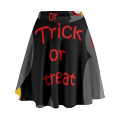 Trick Or Treat   Owls High Waist Skirt by Valentinaart