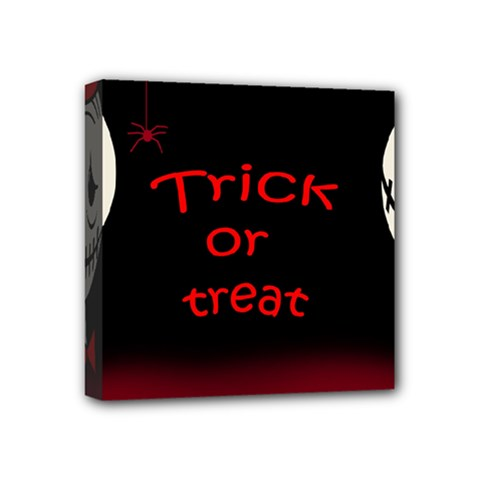 Trick Or Treat 2 Mini Canvas 4  X 4  by Valentinaart