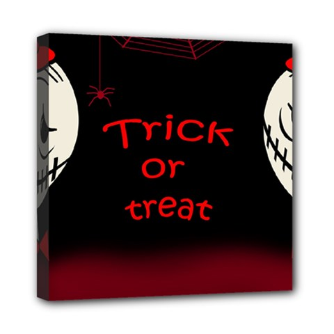 Trick Or Treat 2 Mini Canvas 8  X 8  by Valentinaart