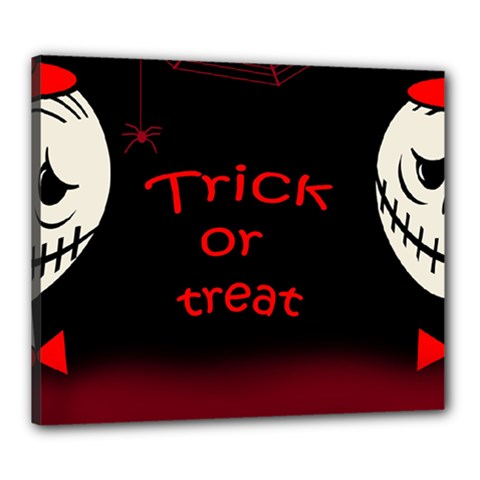 Trick Or Treat 2 Canvas 24  X 20  by Valentinaart