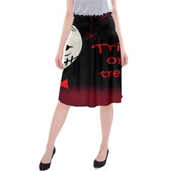 Trick Or Treat 2 Midi Beach Skirt by Valentinaart