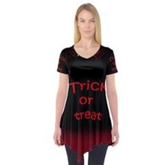Trick Or Treat 2 Short Sleeve Tunic  by Valentinaart