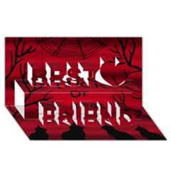 Trick Or Treat   Black Cat Best Friends 3d Greeting Card (8x4) by Valentinaart