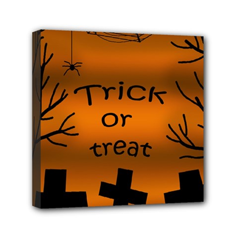 Trick Or Treat   Cemetery  Mini Canvas 6  X 6  by Valentinaart
