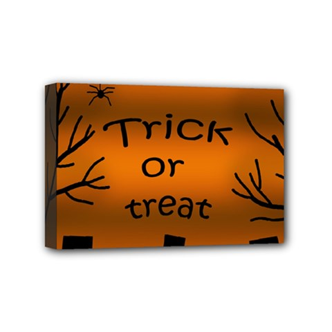 Trick Or Treat   Cemetery  Mini Canvas 6  X 4  by Valentinaart