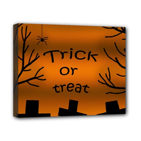 Trick Or Treat   Cemetery  Canvas 10  X 8  by Valentinaart