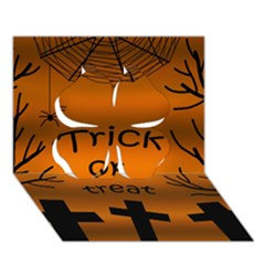 Trick Or Treat   Cemetery  Clover 3d Greeting Card (7x5) by Valentinaart