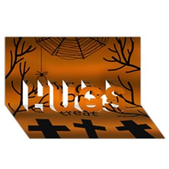 Trick Or Treat   Cemetery  Hugs 3d Greeting Card (8x4)