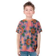 Colorful Floral Dream Kids  Cotton Tee