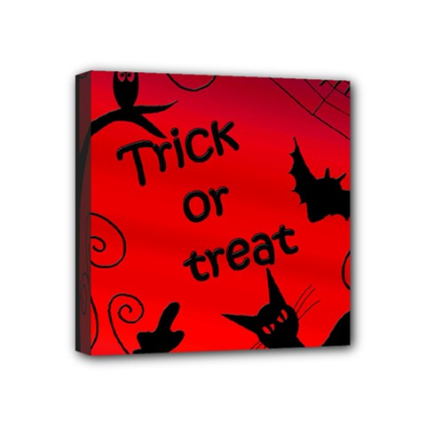 Trick Or Treat   Halloween Landscape Mini Canvas 4  X 4  by Valentinaart