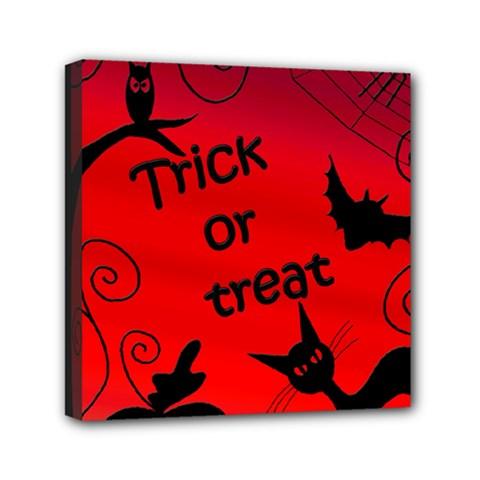 Trick Or Treat   Halloween Landscape Mini Canvas 6  X 6  by Valentinaart