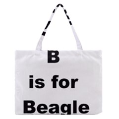 B Is For Beagle Medium Zipper Tote Bag by TailWags