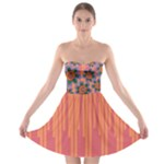 Colorful Floral Dream Strapless Bra Top Dress