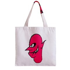 Devil Face Character Illustration Zipper Grocery Tote Bag by dflcprints