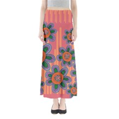 Colorful Floral Dream Women s Maxi Skirt by DanaeStudio