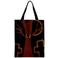 Halloween   Cemetery Evil Tree Zipper Classic Tote Bag by Valentinaart