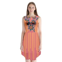 Colorful Floral Dream Sleeveless Chiffon Dress