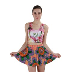 Colorful Floral Dream Mini Skirt by DanaeStudio