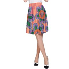 Colorful Floral Dream A Line Skirt by DanaeStudio