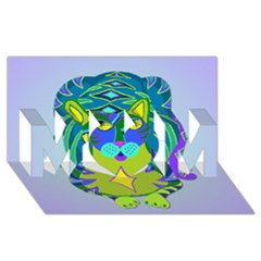 Peacock Tabby Mom 3d Greeting Card (8x4) by jbyrdyoga
