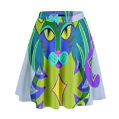Peacock Tabby High Waist Skirt by jbyrdyoga