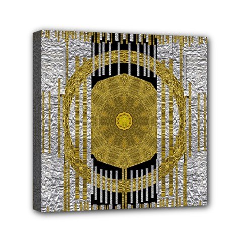 Silver And Gold Is The Way To Luck Mini Canvas 6  X 6  by pepitasart