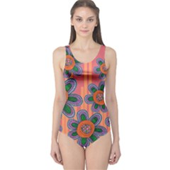 Colorful Floral Dream One Piece Swimsuit