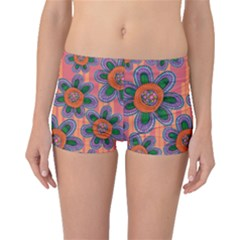 Colorful Floral Dream Boyleg Bikini Bottoms by DanaeStudio