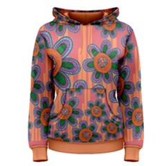 Colorful Floral Dream Women s Pullover Hoodie