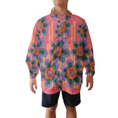 Colorful Floral Dream Wind Breaker (kids) by DanaeStudio