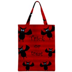 Halloween Bats  Zipper Classic Tote Bag by Valentinaart
