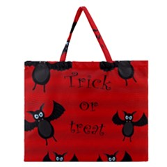 Halloween Bats  Zipper Large Tote Bag by Valentinaart