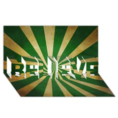 Colored Vintage Believe 3d Greeting Card (8x4) by AnjaniArt