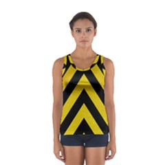 Construction Hazard Stripes Women s Sport Tank Top  by AnjaniArt
