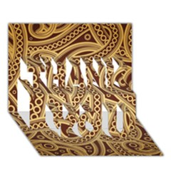 European Fine Pattern Thank You 3d Greeting Card (7x5) by AnjaniArt