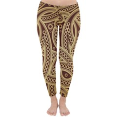 European Fine Pattern Winter Leggings  by AnjaniArt