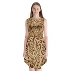 European Fine Pattern Sleeveless Chiffon Dress   by AnjaniArt