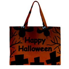 Happy Halloween   Bats On The Cemetery Mini Tote Bag by Valentinaart