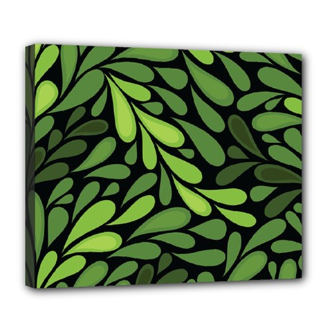 Free Green Nature Leaves Seamless Deluxe Canvas 24  X 20   by AnjaniArt