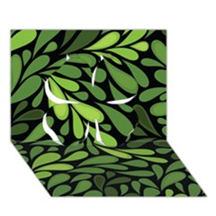 Free Green Nature Leaves Seamless Clover 3d Greeting Card (7x5) by AnjaniArt