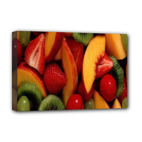 Fruit Salad Deluxe Canvas 18  X 12   by AnjaniArt