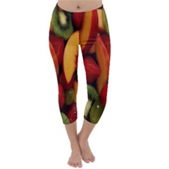 Fruit Salad Capri Winter Leggings  by AnjaniArt
