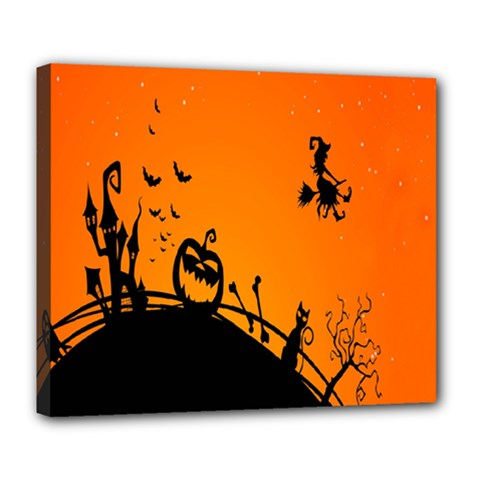 Halloween Day Deluxe Canvas 24  X 20   by AnjaniArt
