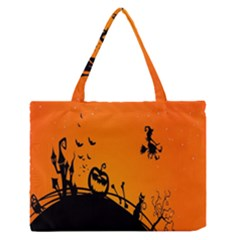 Halloween Day Medium Zipper Tote Bag by AnjaniArt
