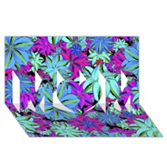 Vibrant Floral Collage Print Mom 3d Greeting Card (8x4) by dflcprints