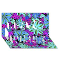 Vibrant Floral Collage Print Best Wish 3d Greeting Card (8x4) by dflcprints