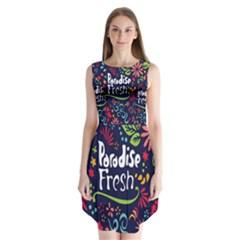Hawaiian Paradise Fresh Sleeveless Chiffon Dress   by AnjaniArt