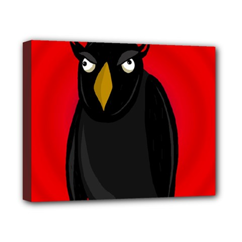 Halloween   Old Raven Canvas 10  X 8  by Valentinaart