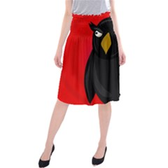 Halloween   Old Raven Midi Beach Skirt
