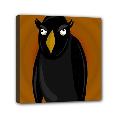 Halloween   Old Black Rawen Mini Canvas 6  X 6  by Valentinaart